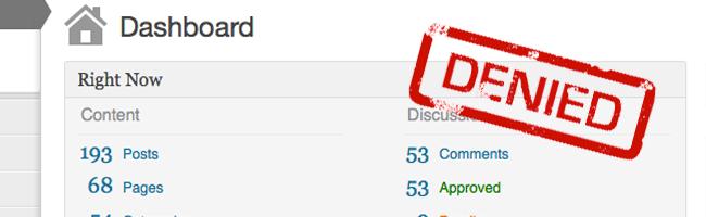 Remove Dashboard Access — плагин для контроля за доступом к административной части   n-wp.ru
