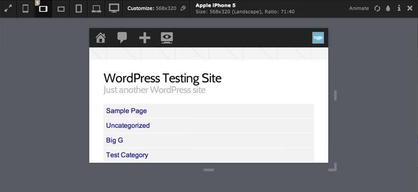 Responsible — плагин для тестированя сайта на экранах с различных устройств