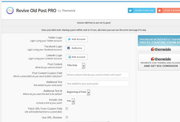 Revive Old Post — плагин для публикации старых постов в социальных сетях | n-wp.ru