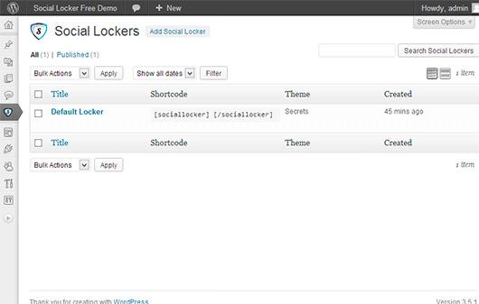 OnePress Social Locker — плагин, показывающий скрытое содержимое после отправки ссылки в социальные сети