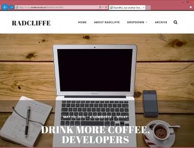Radcliffe — минималистичная тема для личного блога с большими картинками | n-wp.ru