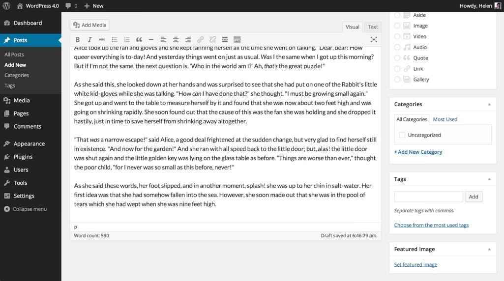 WordPress 4.0 «Benny» — основные изменения