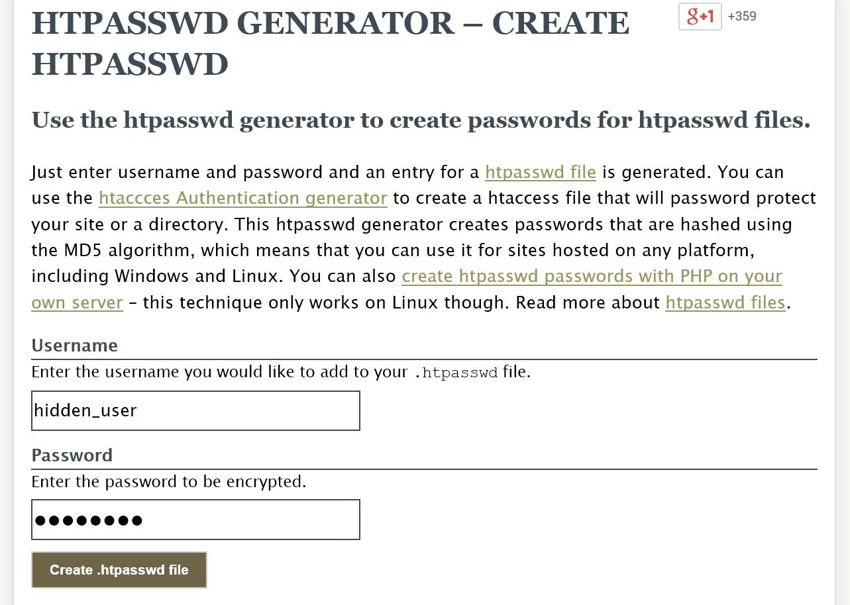 Как защитить папку админки с помощью дополнительного пароля