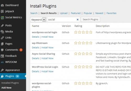 Github Plugin Search - плагин для поиска и установки плагинов WordPress из GitHub | n-wp.ru
