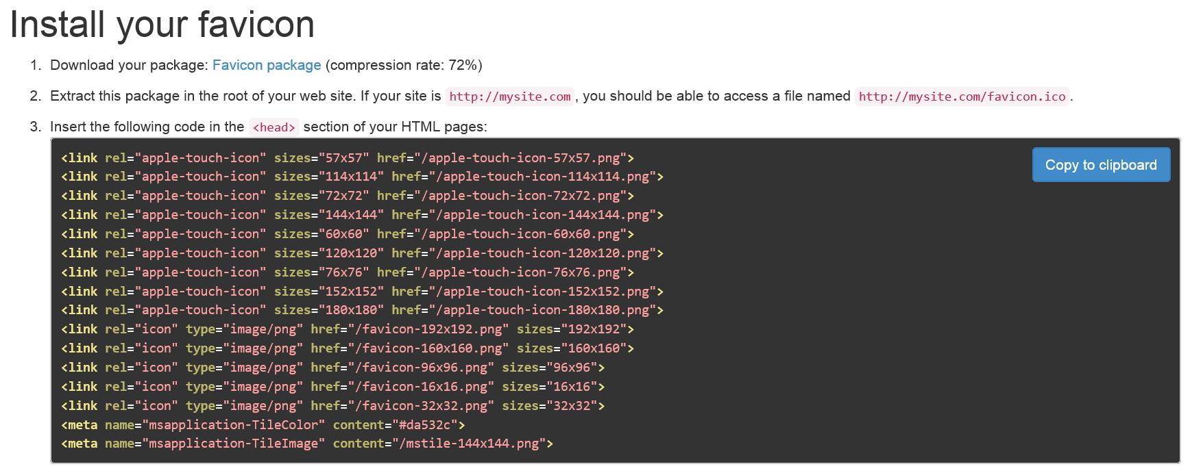 Real Favicon Generator - онлайновый генератор favicon для разных браузеров