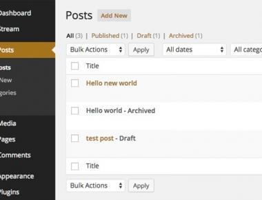 Archived Post Status - плагин для создания дополнительного, архивного статуса постов | n-wp.ru