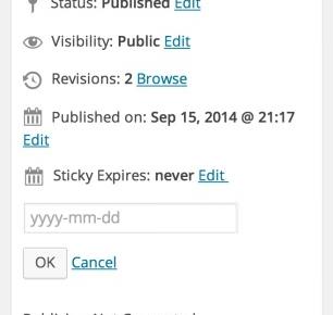 Expire Sticky Posts - плагин для снятия прилепленных записей в определенное время | n-wp.ru