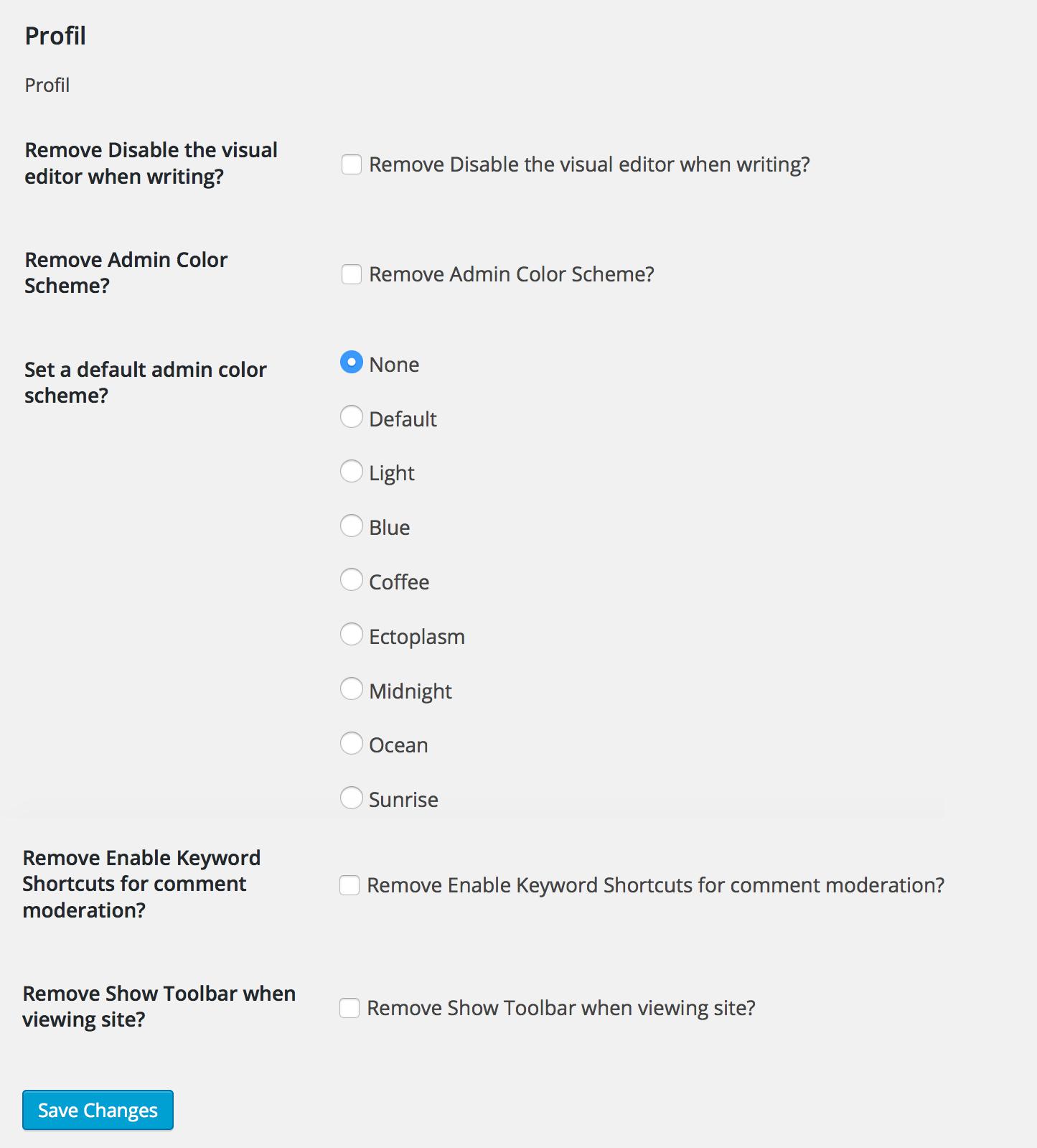 WP Admin UI — плагин для индивидуальной настройки административной части блога | n-wp.ru