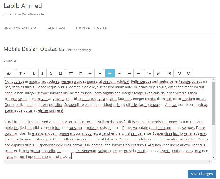 WP Quick FrontEnd Editor — плагин для редактирования содержимого постов без входа в административный раздел