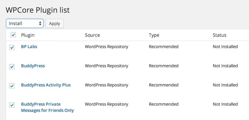 WPCore -- сервис для пакетной установки плагинов   n-wp.ru