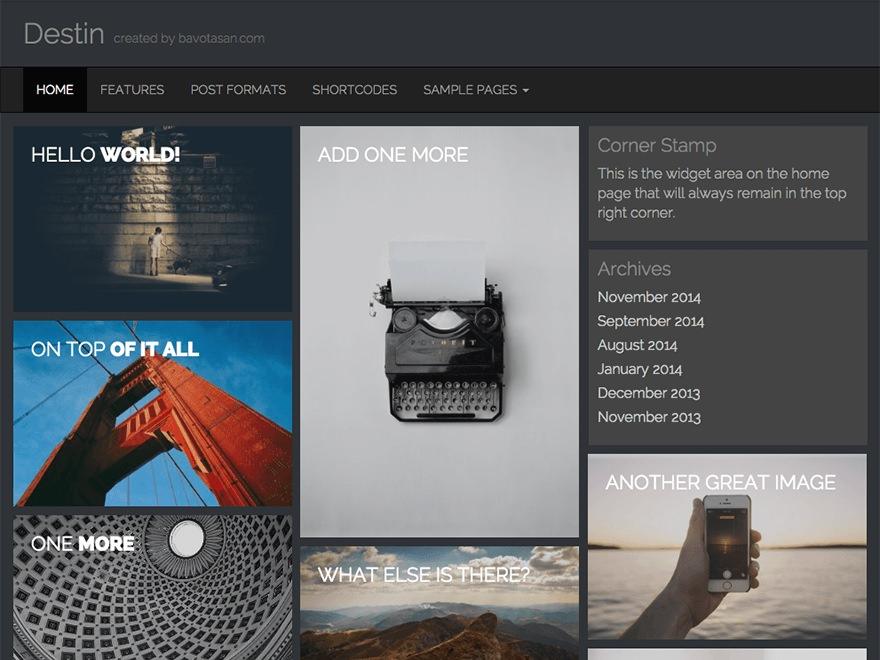 Три бесплатных современных темы с grid-дизайном, появившихся в мае 2015 года