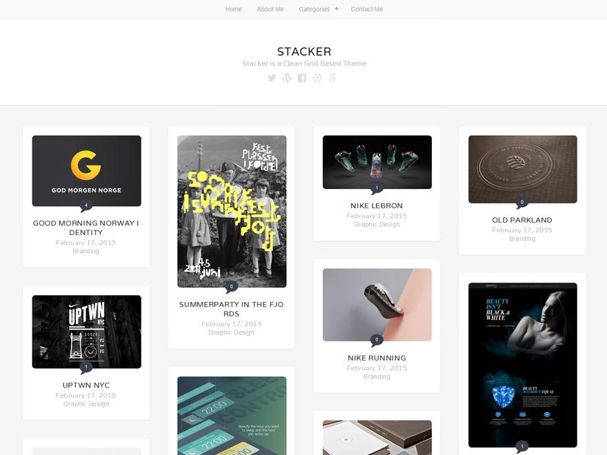 Три бесплатных современных темы с grid-дизайном, появившихся в мае 2015 года | n-wp.ru