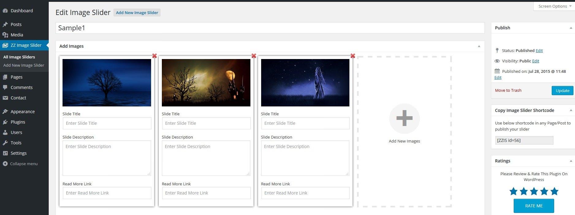 ZZ Image Slider — простой в настройке слайдер изображений с красивыми эффектами