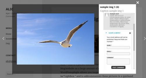 ALIC (Ajax Lightbox Image Comment) -- плагин для показа и комментирования изображений | n-wp.ru