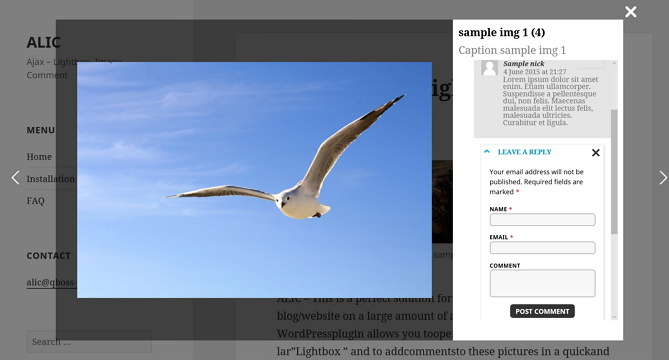ALIC (Ajax Lightbox Image Comment) -- плагин для показа и комментирования изображений   n-wp.ru