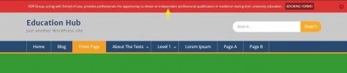 Notice Bar — плагин для вывода информационной панели с произвольным объявлением