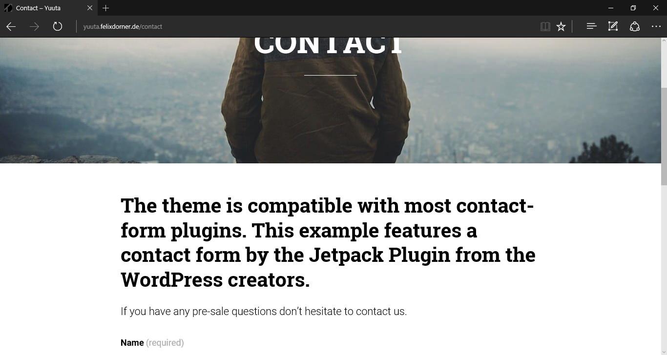 Yuuta — бесплатная WordPress тема с поддержкой 9 форматов постов