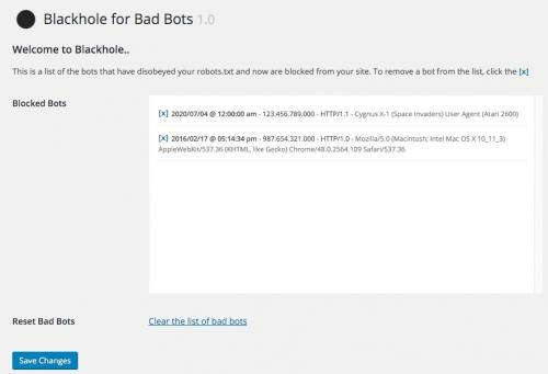 Blackhole for Bad Bots — черная дыра для плохих ботов