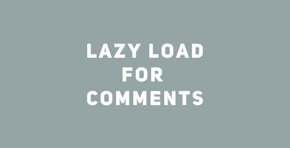 Как сделать постепенную подгрузку комментариев к записи