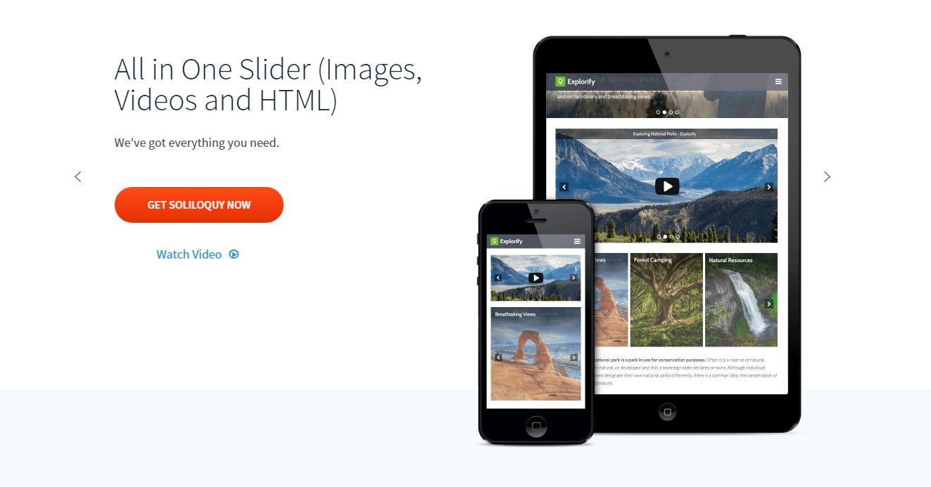 Soliloquy - слайдер для WordPress