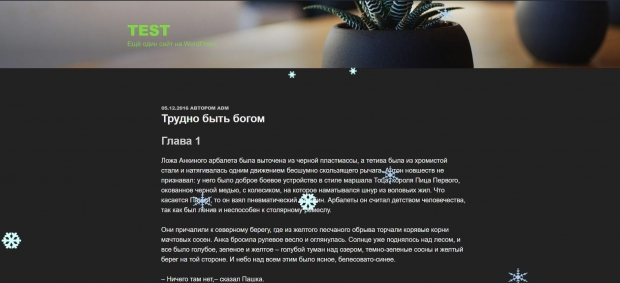 Подготовка сайта на WordPress к Новому году