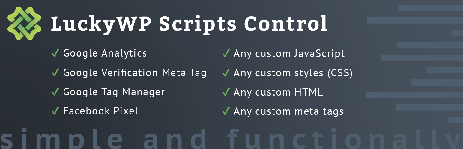 LuckyWP Scripts Control официальная страница плагина